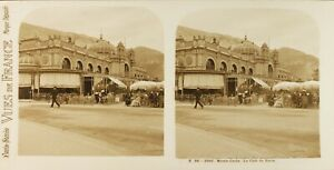 MONACO-Monte-Carlo-Le-Cafe-de-Paris-Photo-Stereo-Vintage-Argentique-PL61L1180