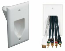 1-Gang Recessed Low Voltage Wall Plate Pass Through HDMI Video Audio Cord C