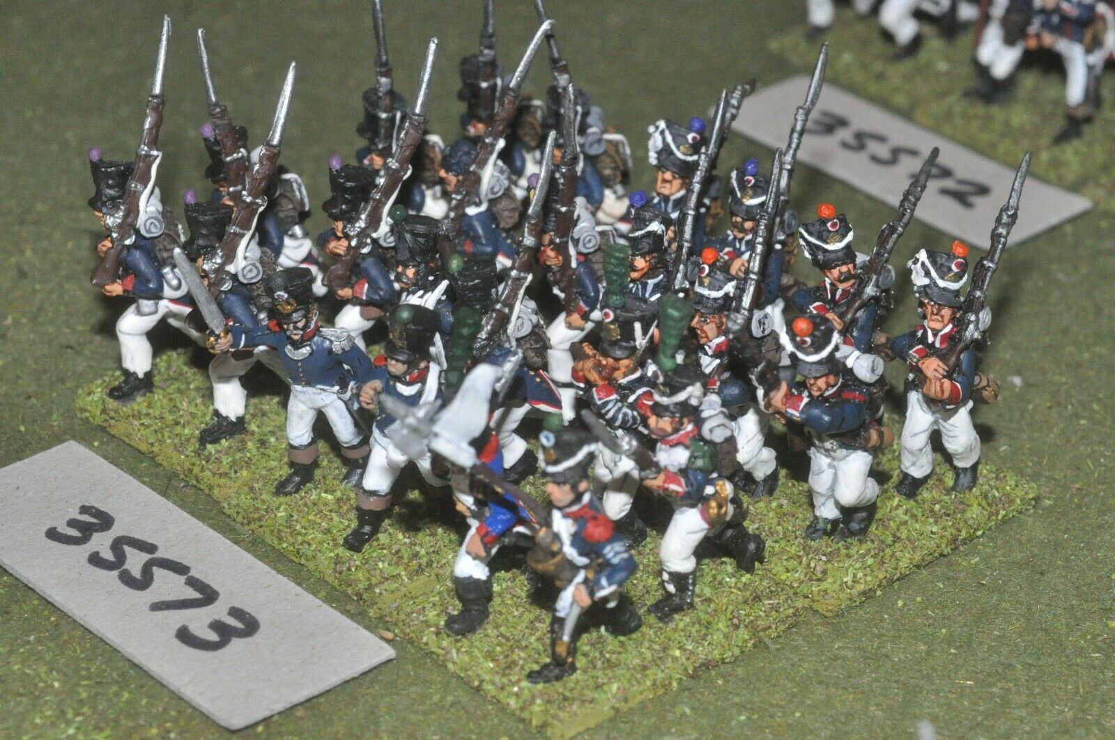 25mm napoleonic   french - regiment 24 figures - inf (35573)