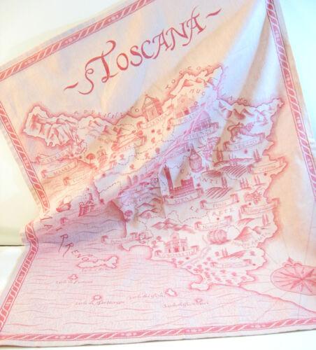 NEW Le Telerie Toscane Italy Cotton Jacquard Kitchen Tea Towel Toscana Red