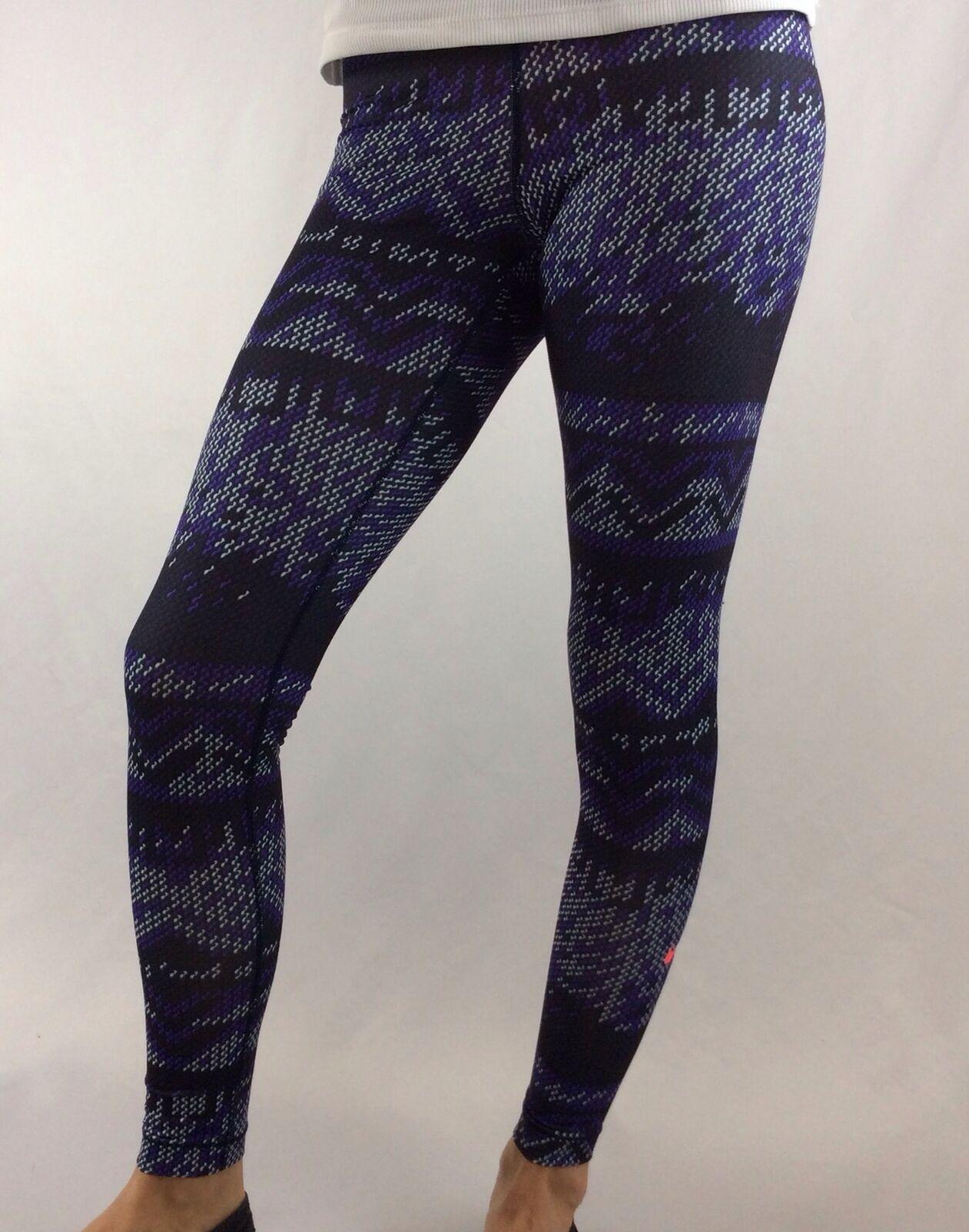 NIKE Pro Women's Athletic Training Tights Dri-Fit Purple White Size XS