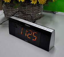 iTOMA 503 Alarm Clock FM Radio, Bluetooth Speaker, Auto Time Set, Phone Charging