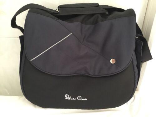 SILVER Cross Changing Bag Vintage Blue Used Bag Blue Bag Silver Cross
