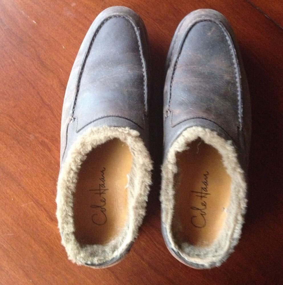 Scarpe casual da uomo  EUC Haan Cole Haan EUC Leather Sheep Fur Lined Slip On Loafers Shoes uomos 8 31cb72