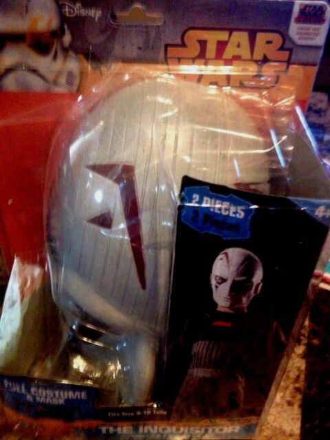 Star Wars Halloween Costume and Mask Disney The Inquisitor Size 8-10 New NIP