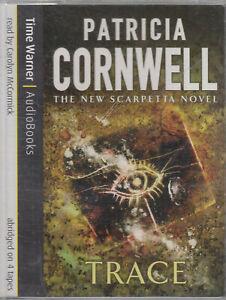 Trace-Patricia-Cornwell-4-Cassette-Audio-Book-Scarpetta-Abridged-Crime-Thriller