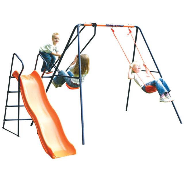 Childrens Hedstrom Swing Glider & Slide Saturn Outdoor Garden Kids Multiplay Set