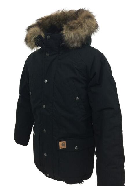 7f2c84623 Carhartt IO21869 Mens Trapper Parka Jacket in Black S,M,L,XL,XXL - RRP  £245,BNWT