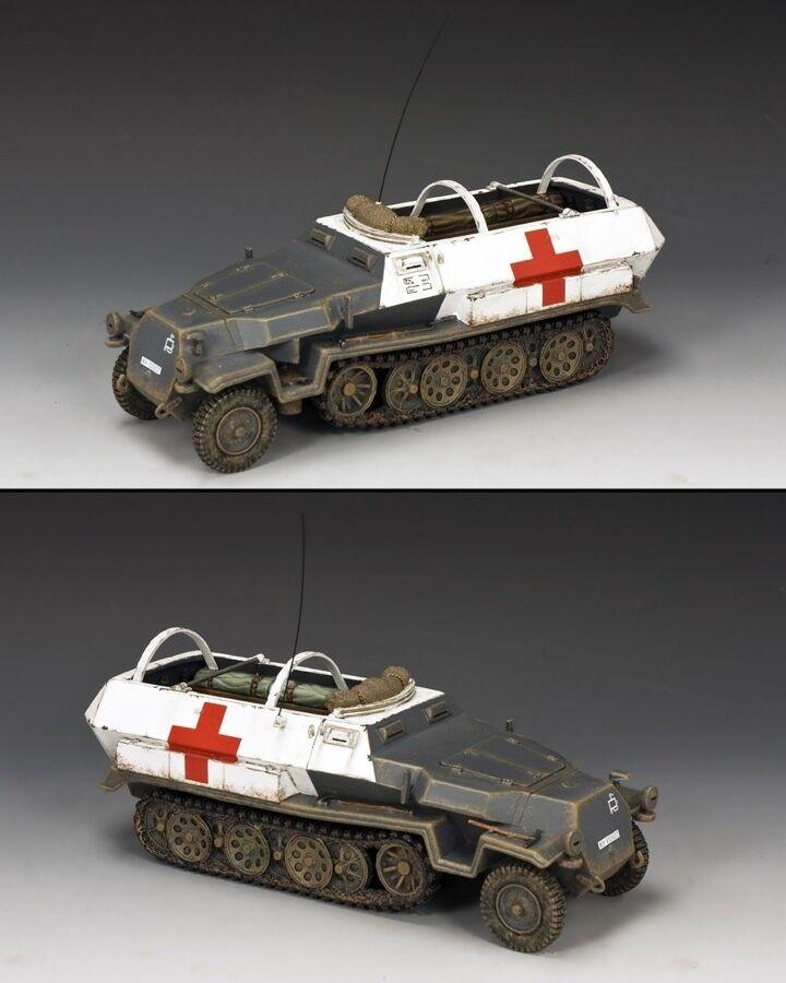 King & Land WW2 Deutsche Armee WH005 Sd. Kfz. 251 Gepanzerte Krankenwagen MIB