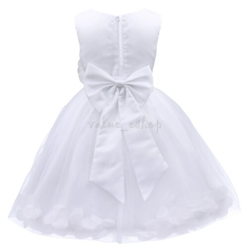 Petals Flower Girl Dress Princess Formal Birthday Party Bridesmaid Gowns Pageant