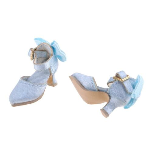3 Pairs of Doll Pointed Toe Shoes Block High Heels for 1//6 Blythe Dolls Accs
