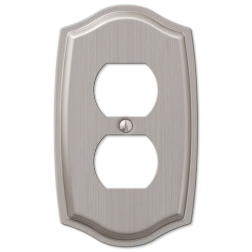 Brushed Nickel Switch Plate Outlet Cover Rocker GFCI Toggle Light Wall Plate