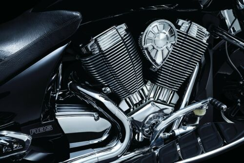 KURYAKYN CHROME CYLINDER BASE ACCENT FOR 2010-2017 VICTORY CROSS COUNTRY 7627