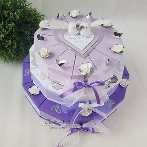 Schachteltorte Torte 3sto Lila Flieder Hochzeit Geldgeschenk