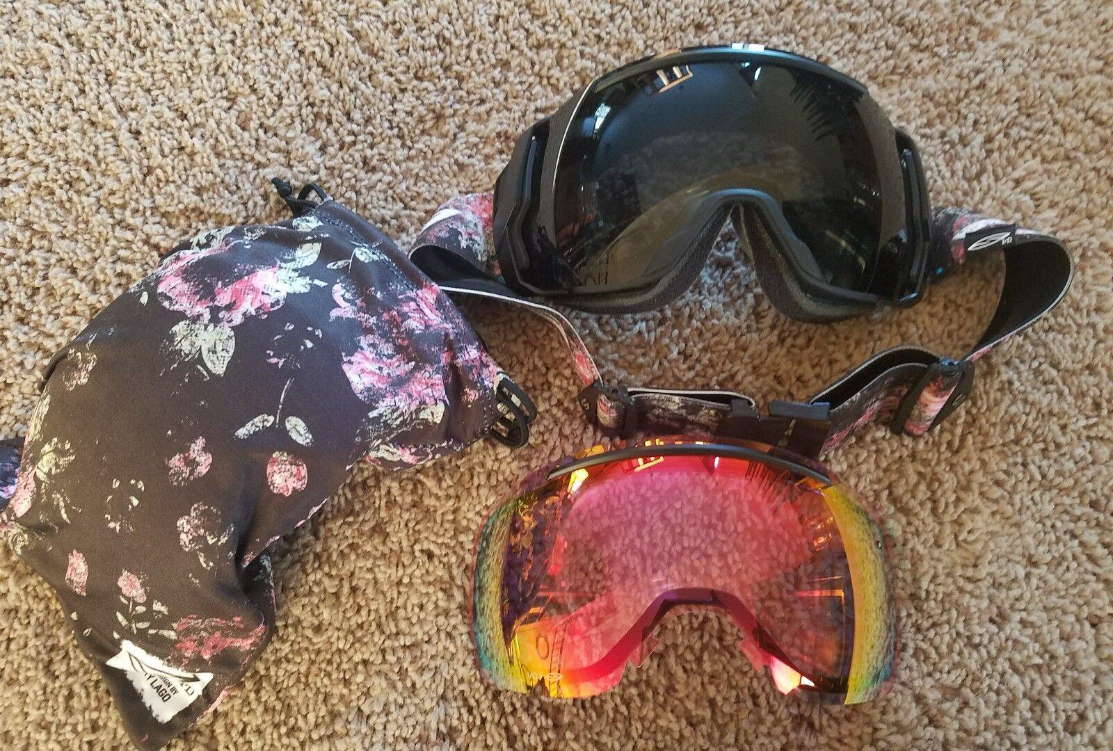 SMITH I  O7 Ski Snowboard Goggles w+ EXTRA Lens -RARE  Scotty Lago Design  get the latest