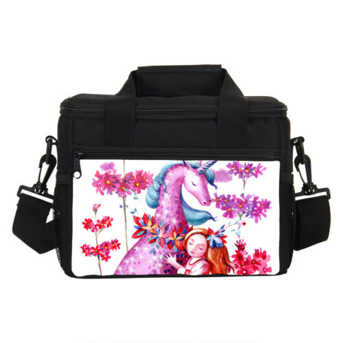 Pink Unicorn and Little Girl Backpack Lunch Bag Cross-body Pen Case Wholesale