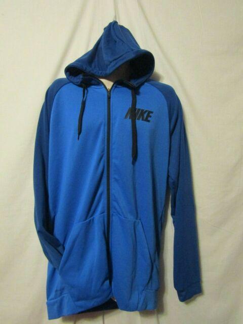 Nike Men's Size 4xlt Big & Tall Dry Fit Full Zip Hoodie Blue