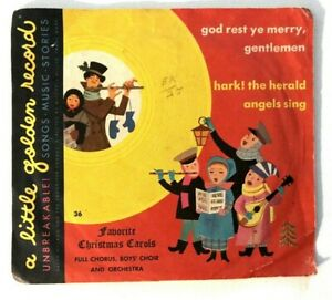 c1949 VTG Christmas Carols Golden Record 45 RPM Hark the Herald Angels Sing | eBay