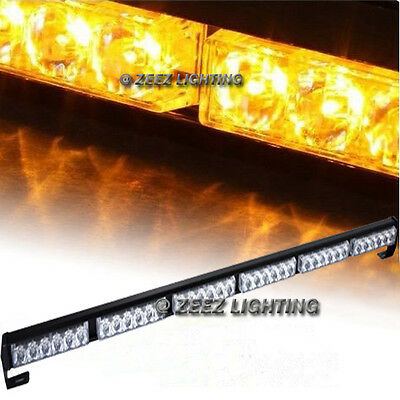 20W Amber COB LED Emergency Hazard Warning Flash Strobe Beacon Light Bar C03
