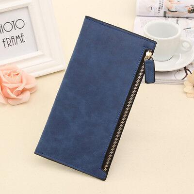 Women Lady Zipper Leather Wallet Card Holder Long Handbag Phone Purse Fashion