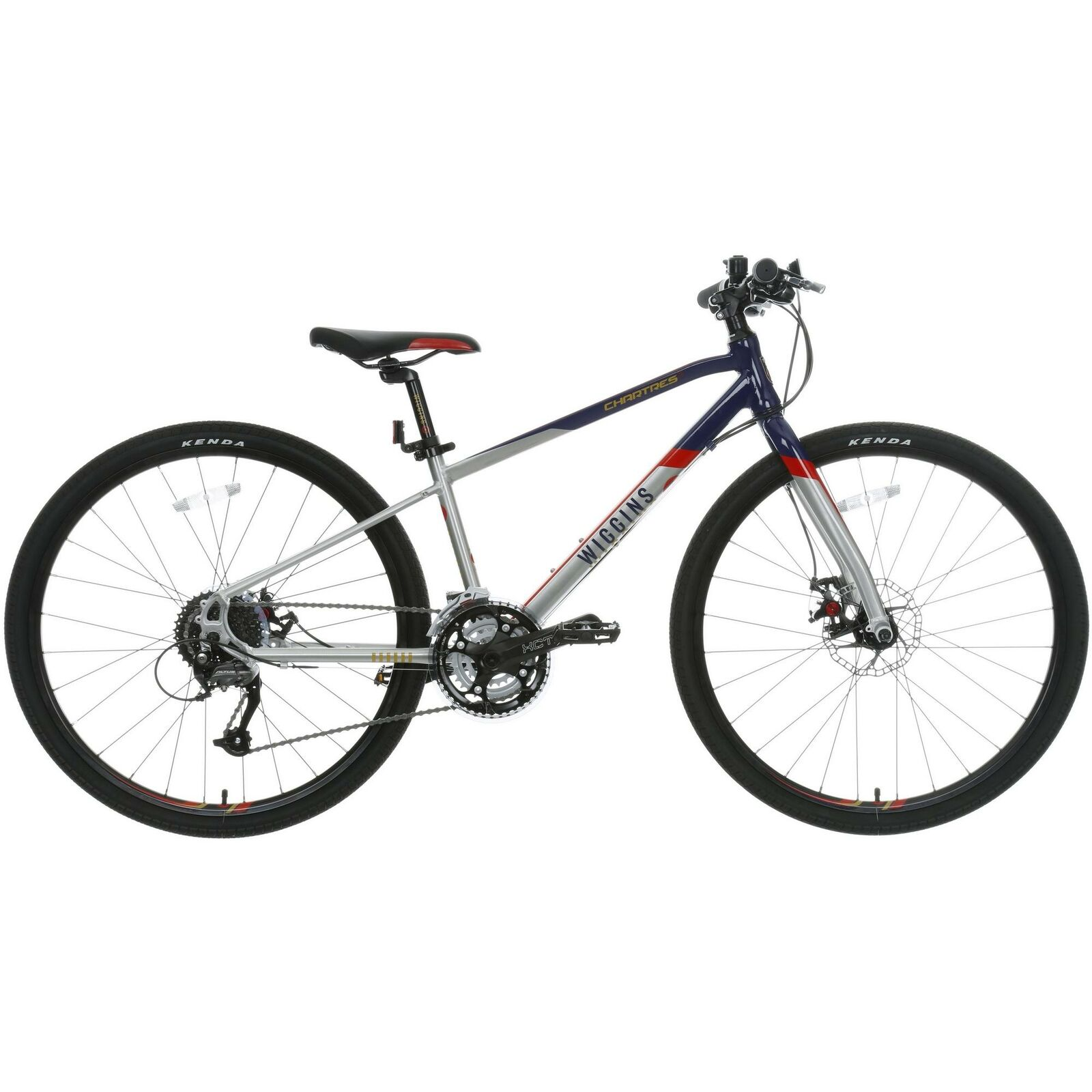 Wiggins Chartres Boys Girls Hybrid Bike Bicycle 27 Shimano Speed 26  Inch Wheels