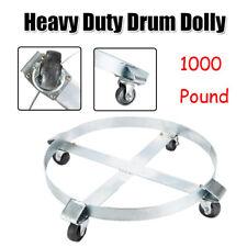 Drum Dolly 4 Wheel Swivel Casters Heavy Steel Frame Hand Truck Easy Roll 1000lbs