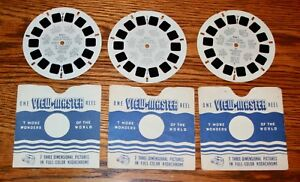 Dale Evans Scenes from TV Shows Queen of The West 1955 - 3 ViewMaster Classic Vintage 3D Reels