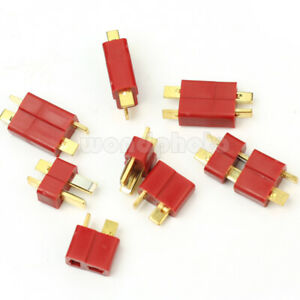 10-Pairs-Ultra-T-plug-Connectors-for-Deans-Car-RC-LiPo-Battery-Male-and-Female