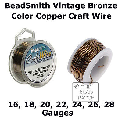26 24 28 Gauge Wire Vintage Bronze BeadSmith Craft Wire 16 18 20 22