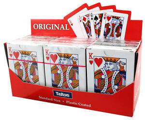 45p-BARGAIN-192-PACKS-PLAYING-CARDS-SUPERB-PLASTIC-COATED-TALLON