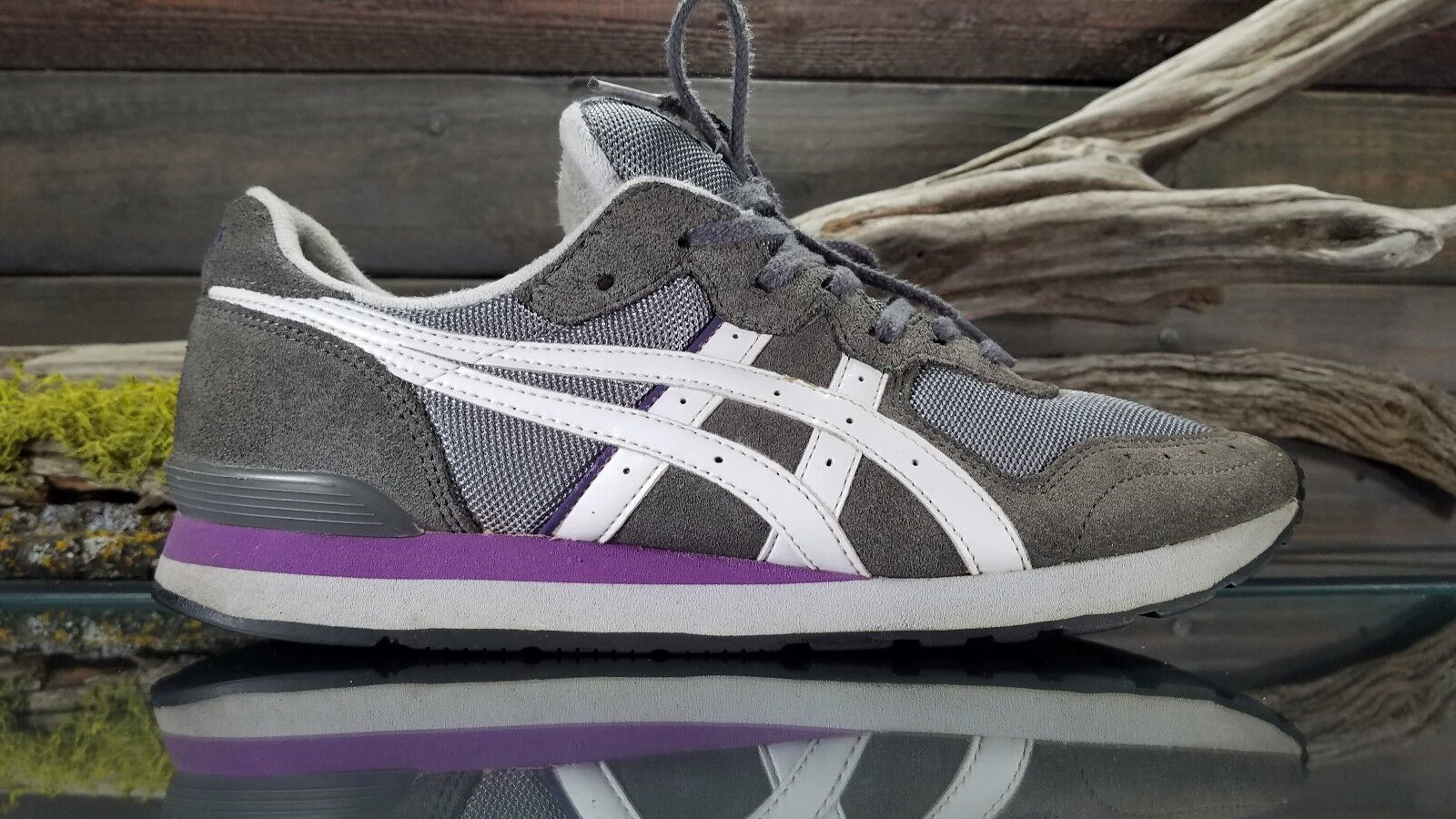 ASICS CLASSIC Womens Sz 9 US Running Training Tennis Gray Suede Athletic Shoes Seasonal price cuts, discount benefits