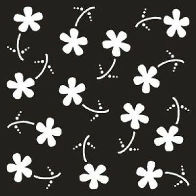 """THAT SPECIAL TOUCH OF Mica Masks DOODLE DAISIES Emboss Approx 6/"""" x 6/"""""""