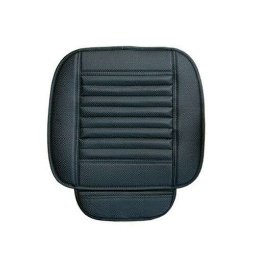 LEATHER CAR FRONT REAR BACK SEAT BLACK COVER//PROTECTOR CUSHION DRIVER MAT PAD PU