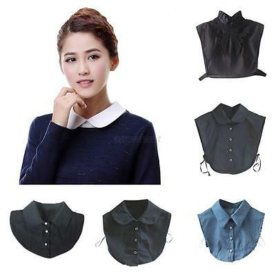 Detachable Womens Lapel False Collar Choker Necklace Peter Pan Shirt Fake Collar