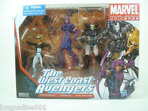 Lot de 3 Marvel Universe West Coast Avengers - Mockingbird Hawkeye War Machine Nouveau