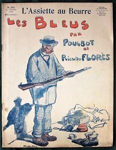 L-039-Assiette-au-Beurre-291-034-Les-Bleus-034-1906-French-Anti-MIlitary-Satire-Art