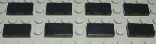 Lego Fliese 618 Kachel 1x2 Schwarz 8 Stück