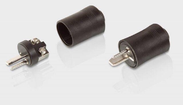 4 x DIN Lautsprecherstecker 2 polig Schraubanschluss Lautsprecher Boxen Stecker