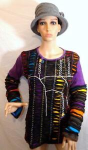 l M Festival Design Hippy Sleeve Trade Patchwork Ethnic Gringo Top Fair Long vqHpfF