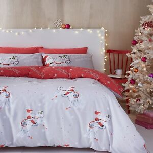 Catherine-Lansfield-Christmas-Unicorn-Reversible-Duvet-Sets
