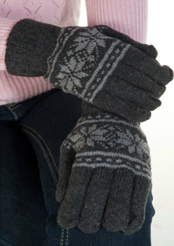 New Men Women Black Grey Winter Gloves Snow Knitted Gloves Winter Collection