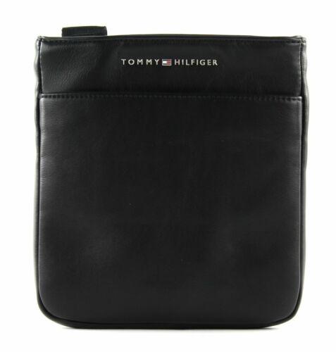 TOMMY HILFIGER TH City Mini Flat Crossover Schultertasche Tasche Black Schwarz