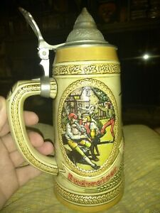 Budweiser-Vintage-Anheuser-Busch-Lidded-Beer-Stein-Limited-Edition-N-Series-1989