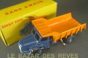 DINKY-TOYS-FRANCE-BERLIET-Benne-carrieres-REF-34-A-Boite-lot-A