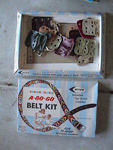 Vintage 1968 Arrow Rainbow Colored A-Go-Go Belt Kit Playset in Box