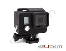 GoPro HERO 3+ Silicon Case Protective Dirt proof Skin Black Rubber Cover HERO3+