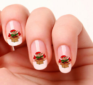 Image Is Loading 20 Nail Art Decals Transfers Stickers 487 Christmas