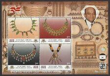 India 2000 Gems & Jewellery MS miniature sheet MNH