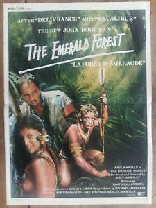 Cartel-Belga-el-D-039-em-Eraude-The-Emerald-Forest-John-BOORMAN-039-S