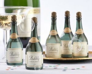 Champagne-Bottle-Bubbles-Green-Gold-Plastic-Wedding-Favors-Kate-Aspen-Bond